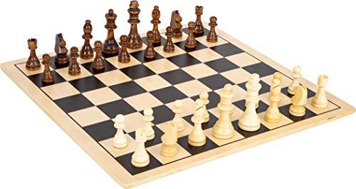 Small Foot Foot 11784 Schach und Dame XL aus Holz, für 2 Spieler, 2 Gesellschaftsspiele, extra groß, ab 6 Jahren