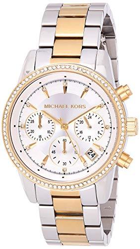 Michael Kors Reloj Analógico para Mujer de Cuarzo con Correa en Acero Inoxidable MK6474