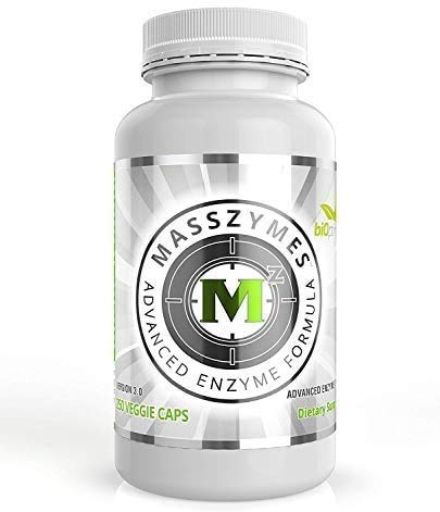 MassZymes - Digestive Enzyme Supplement - with Proteolytic Enzymes - Provides Bloating, Constipation, and Gas Relief - Contains Lipase, Amylase, and Bromelain (250 Capsules)