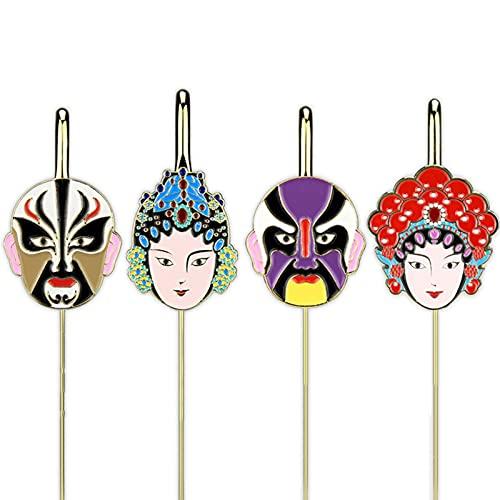 DGFDS Keramik Lesezeichen Kleine Geschenke Von Der Verbotenen Stadt Chinesische Peking Opera Face Bookmark Set Buchmarkierung Für Studentenleser