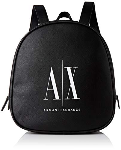 Armani Exchange Backpack, Mochila para Mujer, Black White, One Size
