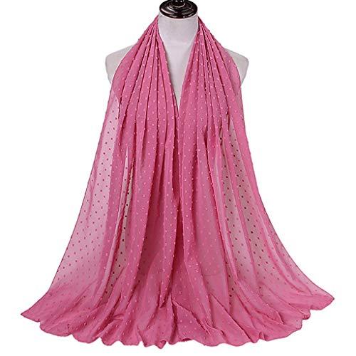 YOYOHO Bufanda de Gasa Floral Hijab para Mujer Abrigo Largo para la Cabeza con mantón
