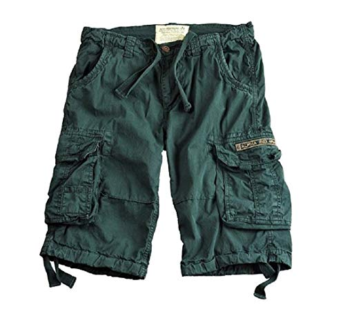 Alpha Industries Jet Shorts Herren Short kurze Hosen 10108 (36, dark petrol)
