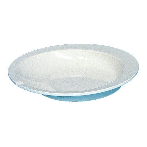 アビリティーズ・ケアネット すくいやすい皿 アイボリー 乾燥機・食洗機可 メラミン樹脂