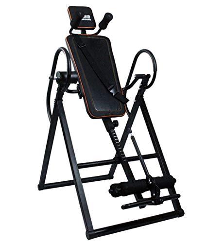 Mesa de inversión de Alta Resistencia con reposacabezas y cinturón de protección Ajustable Espalda máquina ensanchador para Terapia de Alivio del Dolor Negro