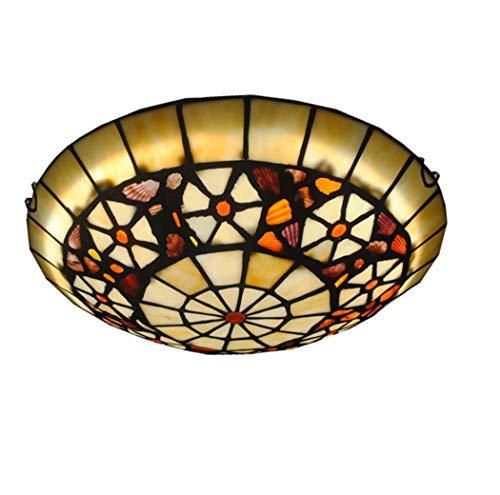 Yjmgrowing Lámparas de Techo Estilo Tiffany de LED para