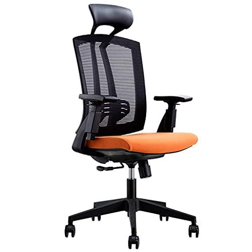 Fevilady Silla de escritorio, silla de oficina, silla ergonómica, silla de oficina, silla de jefe, silla de estudio, silla de ordenador, sillas simples para juegos (color negro)