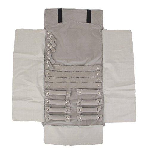 PIXNOR Gioielli Roll Bag Travel Storage Bag Orecchini Collana Organizzatore