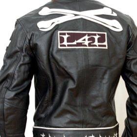 Livin4limit Motorradjacke Leder 4Limit Sports Crossbones Biker Motorrad Jacke Lederjacke, Schwarz, Größe L - 2