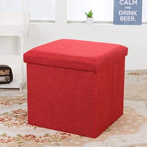 Kruk schoenenbank kruk lage kruk massief hout woonkamer salontafel kruk sofa opbergbank van katoen hennep stool C