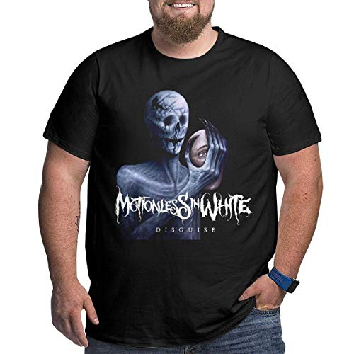 UiikIIDl Camisetas y Tops Hombre Polos y Camisas Motionless in White Disguise Men's Big Size Muscial Cotton Crewneck Short Sleeve tee Black