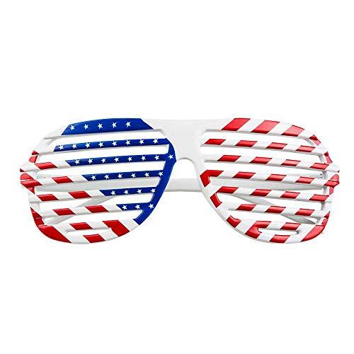 Boland 02595 - Partybrille USA, Einheitsgröße für Erwachsene, Breite 16,5 cm, Höhe 6,5 cm, Vereinigte Staaten, United States, Amerika, Flagge, Spaßbrille, Motto Party, Karneval