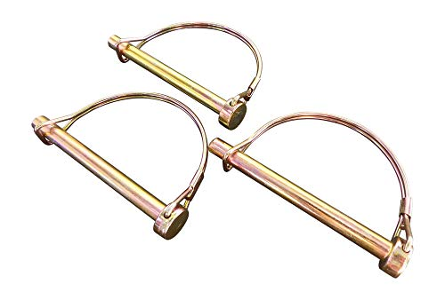 """Double Wire Lock Pin, Hitch Pins, PTO Pins, Quick-Release, Can Replace a Clevis and Cotter Pin, by Tech Team (5/16"""" Dia. x 3"""" Long, Round)"""