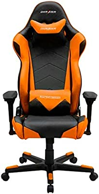 DXRacer OH/RF0/NO Silla Gamer, Acero, Negro y Naranja