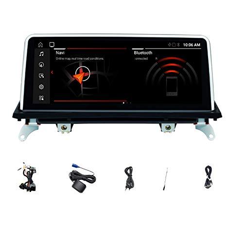 IPS Android 10.0 Auto Radio Multimedia Original CCC o CIC Navegación GPS Unidad Principal de Audio estéreo Compatible con X5 E70 X6 E71 2007-2013,E70 e71 2011~2013