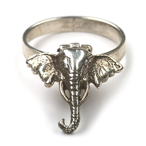 Drachensilber Giftring Elefant Ring mit Fach Tiermotiv Schmuck 925 Silber Größe 52
