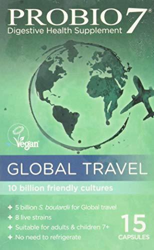 Probio7 Global Travel 8 Live Strains 5 Billion CFU and S. Boulardii, 15 Capsules, 0.05 kg
