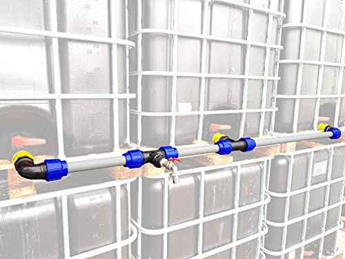 VOXTRADE IBC Verbindungsset für 2-4 Wassertanks 40 mm für extra starken Auslauf (3)