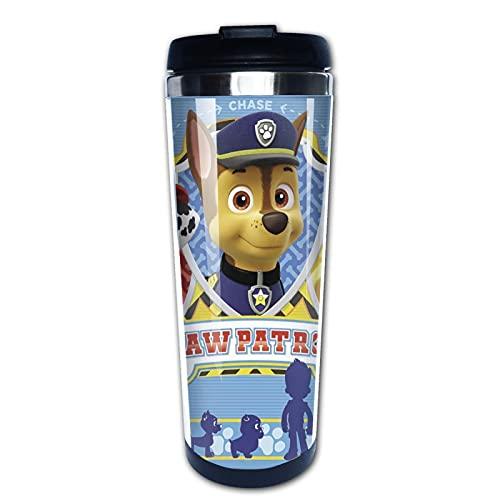 Paw Patrol - Taza aislada duradera para viaje, botella de agua con aislamiento al vacío, taza de agua de acero inoxidable