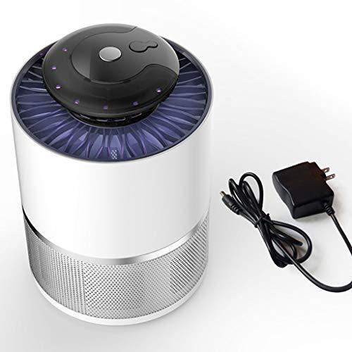 YAN Silent BugZapper, Weiße Mückenfalle für den Innenbereich, Intelligente Lichtsteuerung, Co2-Mückenfalle, Beseitigt die meisten fliegenden Schädlinge (Farbe : Weiß, Größe : 122mm×122mm×176mm)