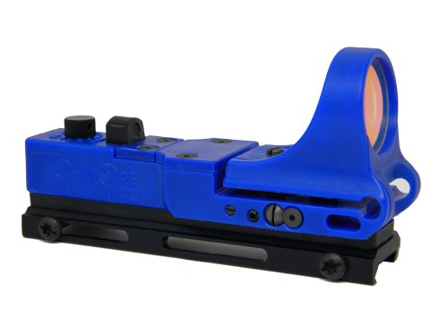 C-MORE Systems Tactical Railway Red Dot Sight with Click Switch, Blue, 8 MOA