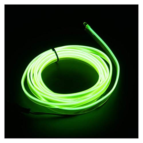Auto Innenbeleuchtung 1m / 2m / 3m / 5m streifen auto l e d streifen girland el draht seil auto dekoration neon l e d lampe flexible seil rohr ( Farbe : 1M Cigarette Drive , Größe : Fresh green )