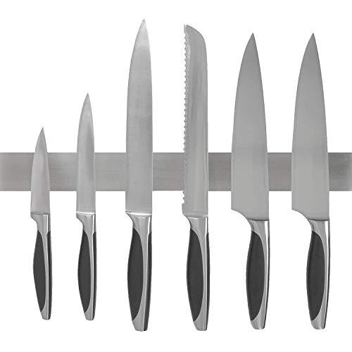 Barre à Couteaux aimantée de 40 cm de Marque - Bandeau magnétique de Suspension pour Couteaux en Acier Inoxydable/INOX - Porte-Couteaux Magnétique - Support Range Couteaux