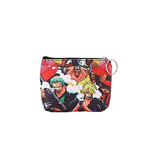 YUMEI Una sola pieza Luffy cartera pequeña delgada monedero bolsa titular para adolescentes niños hombres cartera...