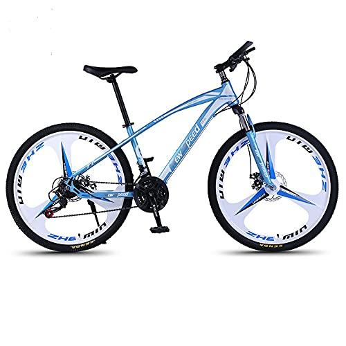 NewSpeed Adult Mountain Bike, 26-Inch Wheels, Mens, Womens Steel Frame, Shimano 21 Speed, Disc Brakes (Blue)