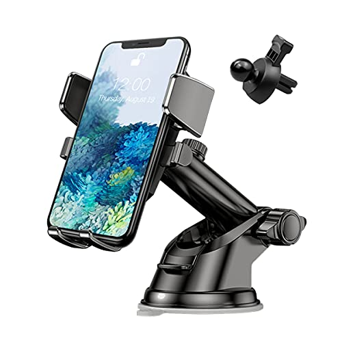 Phone Holder for Car, 360°Rotatable Car Phone Mount for Windshield Dashboard...