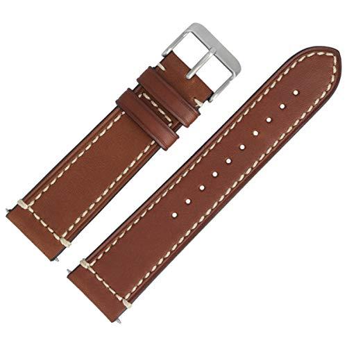 Victorinox Uhrenarmband 22mm Leder Braun Glatt - 004446