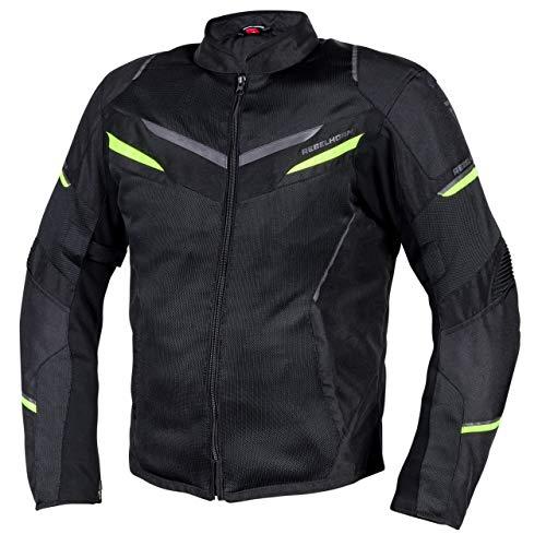 REBELHORN Chaqueta de moto Flux para hombre, materiales duraderos, membrana L-XTR, protección de codos y hombros, bolsillos de ventilación, elementos reflectantes.