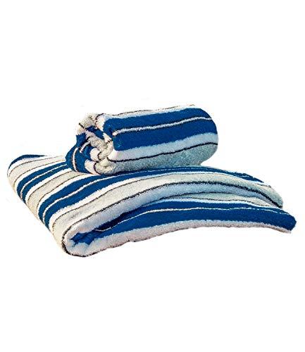 Das Hamburger Handtuch - blau/weiß (50cm x 100cm)