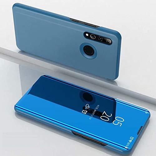 A/M Huawei-Handyfall JRC Galvanik Spiegel Horizontal Flip Ledertasche for Huawei Honor 10i / Nova 4 Lite, mit Halter (Black) Huawei Erweiterte Stoß- Rückfall (Color : Sky Blue)
