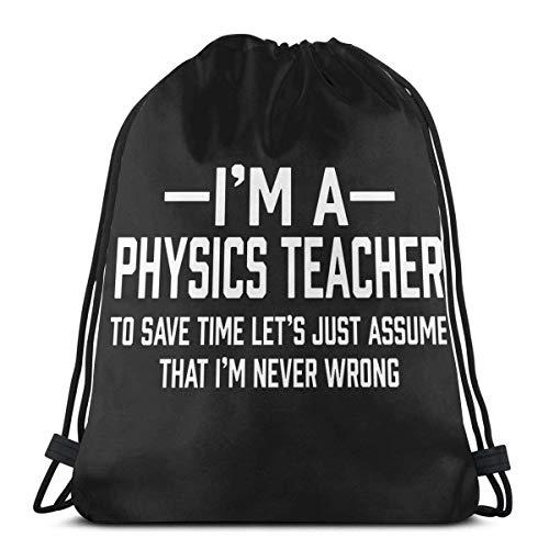 AmzStarz Bolsas de Cuerdas Physics Teacher Sport Gym Sackpack Mochila de Hombro Liviana Mochila de Estudiante Adolescente niño niña Viaje Camping