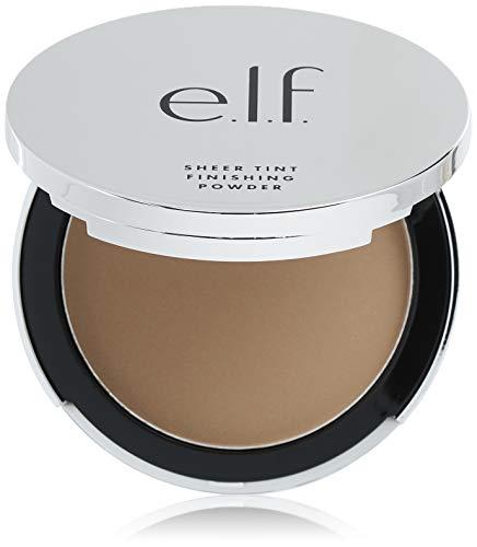 e.l.f, Beautifully Bare Sheer Tint Finishing Powder, Mattifying, Silky, Light Coverage, Long Lasting, Controls Shine, Creates a Flawless Face, Medium Dark, All-Day Wear, 0.33 Oz