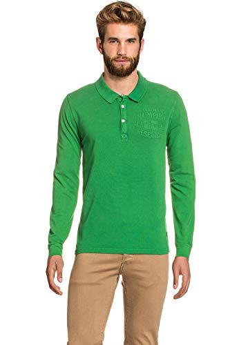 Preisvergleich Produktbild Napapijri Herren Polo Shirt Hemd Longsleeve Langarm feinem Baumwolle Pique NEU
