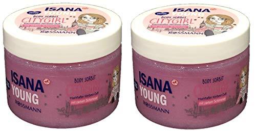 Isana Young Body Sorbet Citygirl mit Himbeer Duft & zartem Schimmer 2 x 150 ml