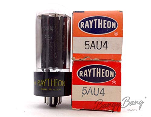Great Features Of 2 Vintage Raytheon 5AU4/5V3 Full Wave Output Rectifier TV Valve- BangyBang Tubes