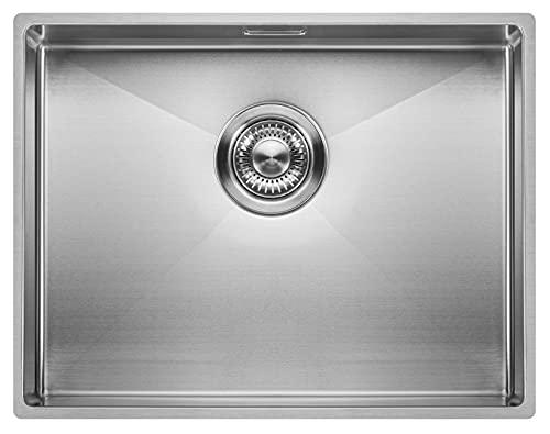 Fregadero de Cocina Copa Design 500-370 | Acero Inoxidable 304 | Mueble de 60 cm | Montaje Bajo o Sobre Encimera o al Ras | Radio 10mm | 1...