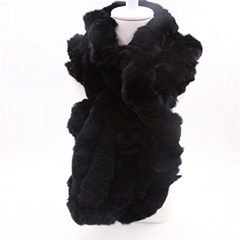SALY Warm Hand of Rex Rabbit Fur Scarf