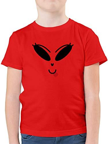 Halloween Kind - Lustiges Alien Kostüm - schwarz - 152 (12/13 Jahre) - Rot - lustige kostüme Jungs - F130K - Kinder Tshirts und T-Shirt für Jungen