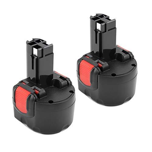 2 Stück 9,6V 3,0Ah Ni-Mh Ersatzakku für Bosch BAT048 BAT100 BAT119 2607335272 2607335461 PSR960 Gsr 9.6 Gsr 9.6VE-2 PSR 9.6VE-2 PSR960 23609 32609-RT
