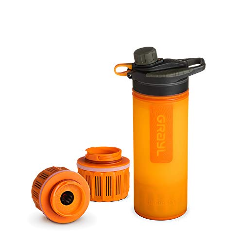 Grayl GeoPress Outdoor- und Reisewasserfilter mit 2 Ersatzfiltern - Visibility orange