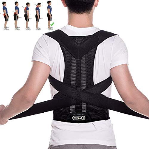 ZSZBACE Rückenstütze zur Haltungsausrichtung Wirbelsäule entlasten Rücken-, Nacken- und Schulterschmerzen für Studenten, Büroangestellte - Unisex-Rückenstützgürtel (L)