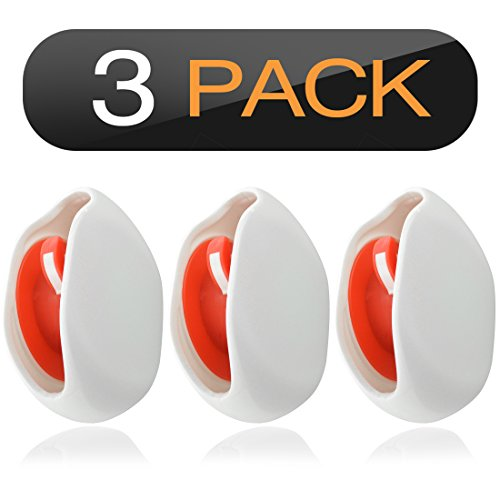 Geekria in-Ear Headset Smart Storage Box/Headphone Cable Storage Organizer/Earbuds Holder Case/Earphone Bobbin Winder Wrap/Cord Tangle-Free Portable Manager/Wire Keeper (3PCS / White)