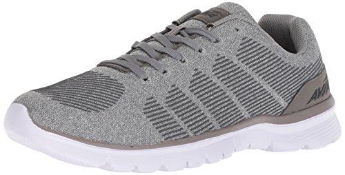 Avia Men's Avi-Rift Running Shoe, Frost Grey/Steel Grey/Black, 12 2E US
