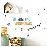 Little Deco Wandaufkleber Safariparty I Zusatz - Spruch & Sterne I Giraffe Zebra Wandtattoo Mädchen Kinderzimmer Aufkleber Junge Deko Sticker Babyzimmer DL313-Z1