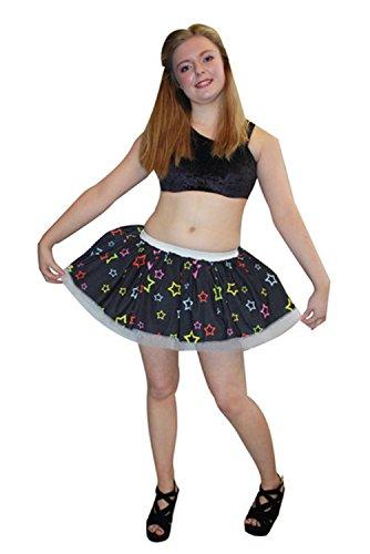 Insanity Clothing Impresionante Falda de tutú con múltiples Estrellas Coloridas para Disfraz de Clubbing Multicolor Multicolor UK Talla 34-42