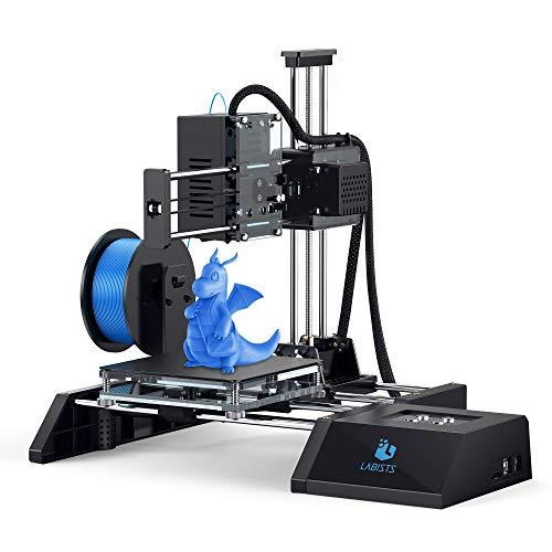 LABISTS SX1 Stampante 3D con Filamenti PLA 10m a Doppia Ventola Estrusore ad Alta Precisione, kit DIY 3D Printer per Principianti Stampante 3D di Montaggio Rapido Dimensione di Stampa 12cmx12cmx11.5cm